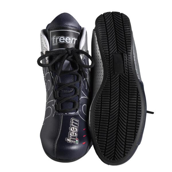 Freem Navyblå Sølv D07K sko